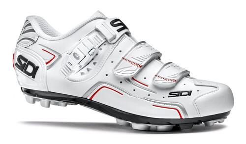 Chaussures Blanc Sidi Avec Des Hommes De Fermeture Velcro 701BzDm
